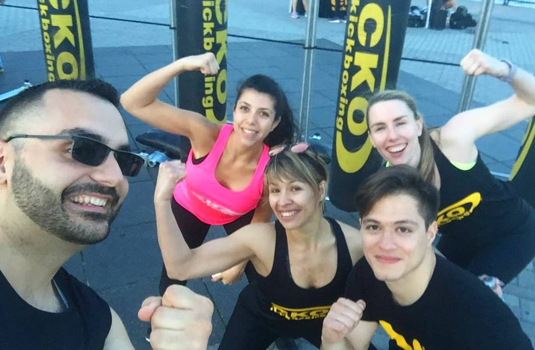 Some of the CKO Hoboken Trainers getting ready to give a GREAT outdoor class!