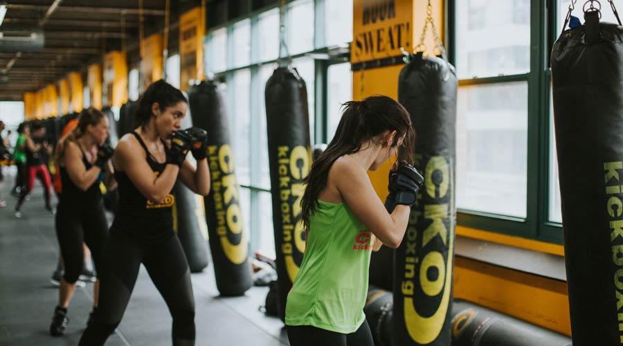 cko kickboxing group kick classes